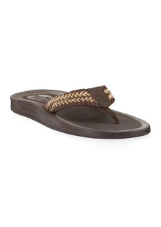 Tommy Bahama Men's Elio Spring Leather Thong Sandals