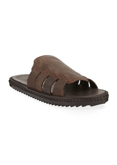 Tommy Bahama Men's Hemet Leather Slide Sandals