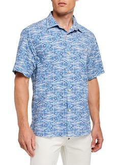 Tommy Bahama Men's Rio Geo Camp Shirt