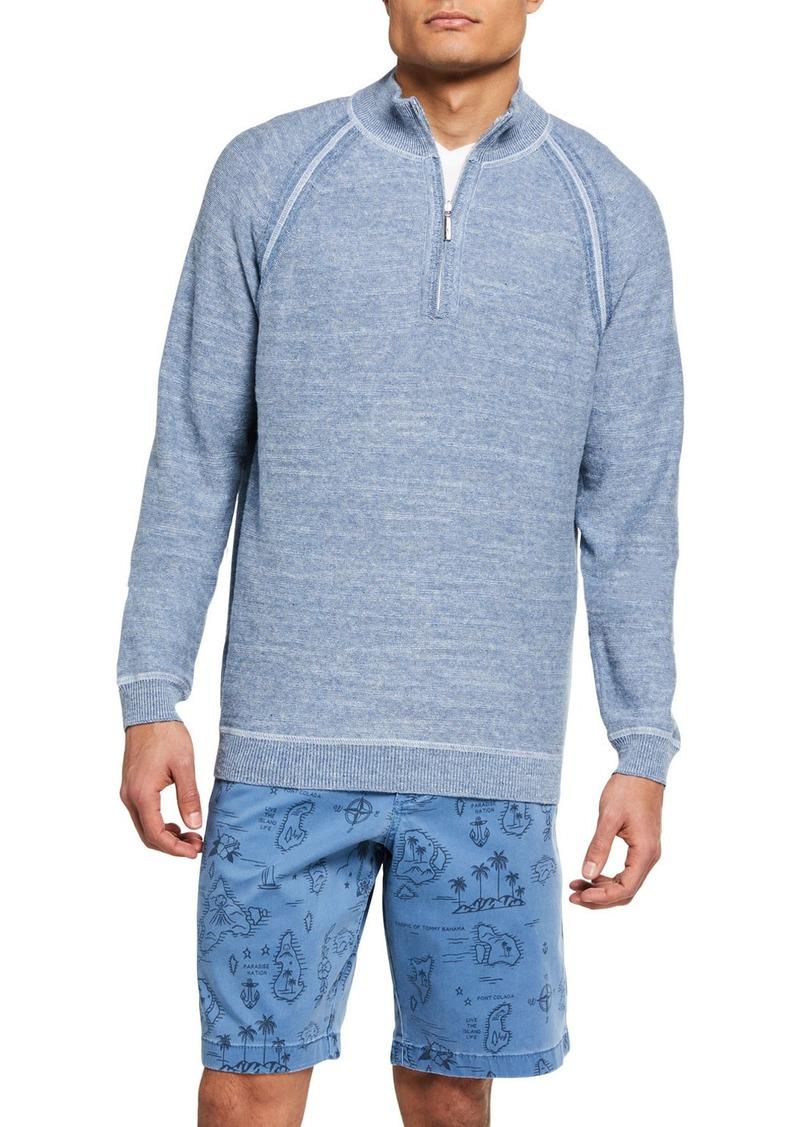 Tommy Bahama Men's Sandy Bay Reversible Half-Zip Sweater