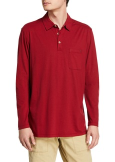 Tommy Bahama Men's Tropicool Sueded Sands Long-Sleeve Polo