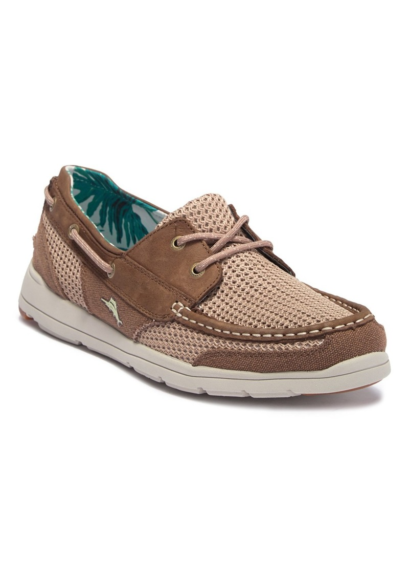 Tommy Bahama Mesh Contrast Boat Shoe
