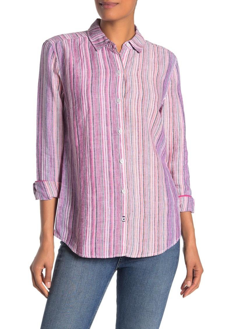 Tommy Bahama Micronesia Stripe Linen Shirt