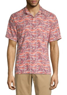 Tommy Bahama Mixed-Print Button-Down Shirt