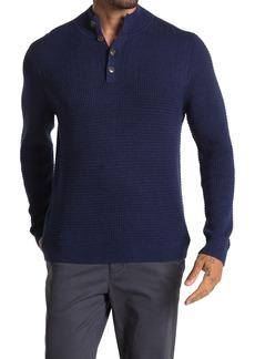 Tommy Bahama Mock Neck Waffle Henley Sweater