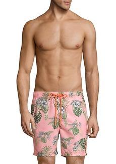 Tommy Bahama Naples Casa Rosa Tropical-Print Swim Trunks