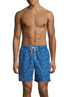 Tommy Bahama Naples Deepwater Diamond Elastic Waist Swim Trunks