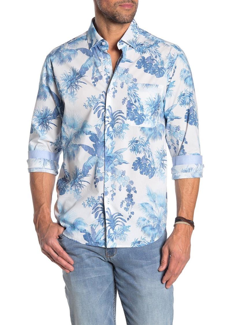 Tommy Bahama Newport Tiare Tropical Long Sleeve Hawaiian Shirt