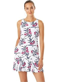 Tommy Bahama Oasis Blossoms High Neck Flounce Spa Dress Cover-Up