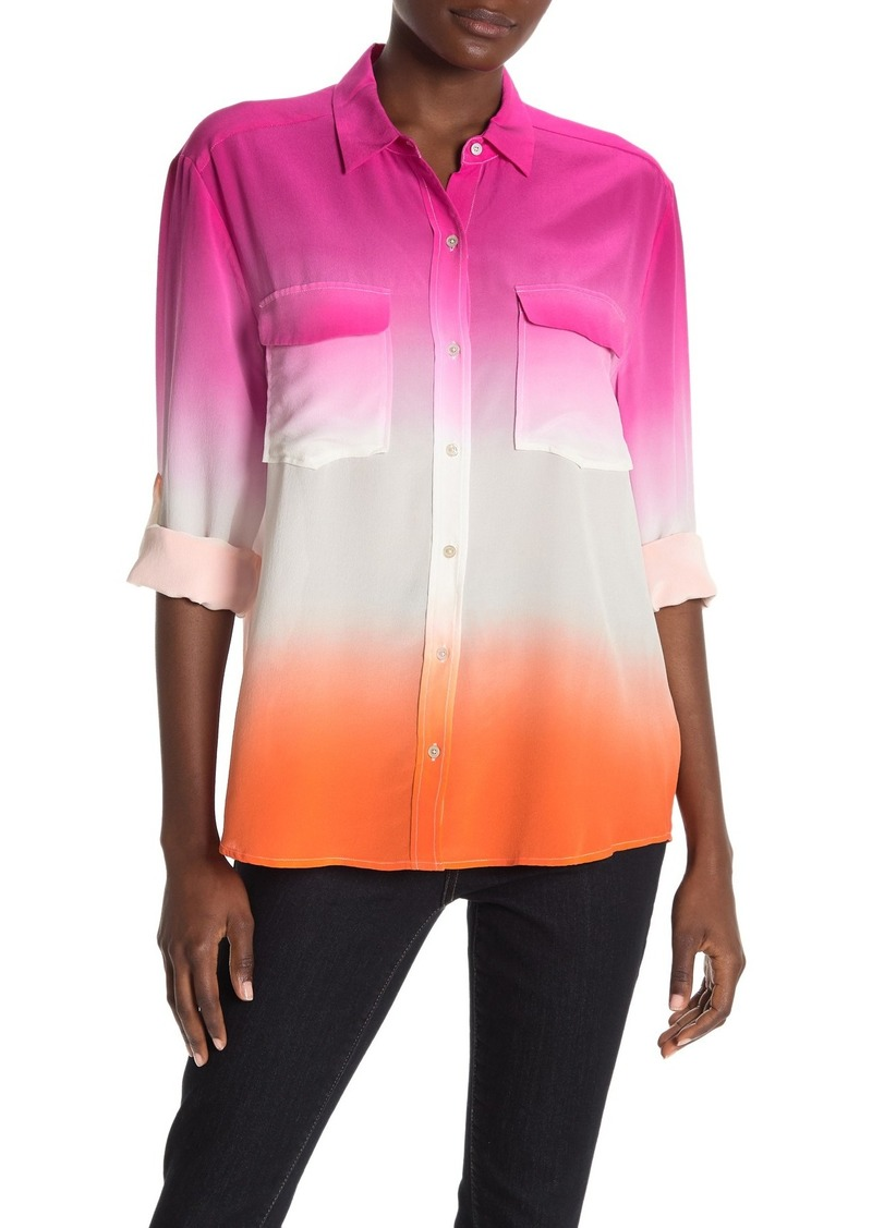 Tommy Bahama Ombre Agassi Long-Sleeve Dip-Dye Silk Shirt
