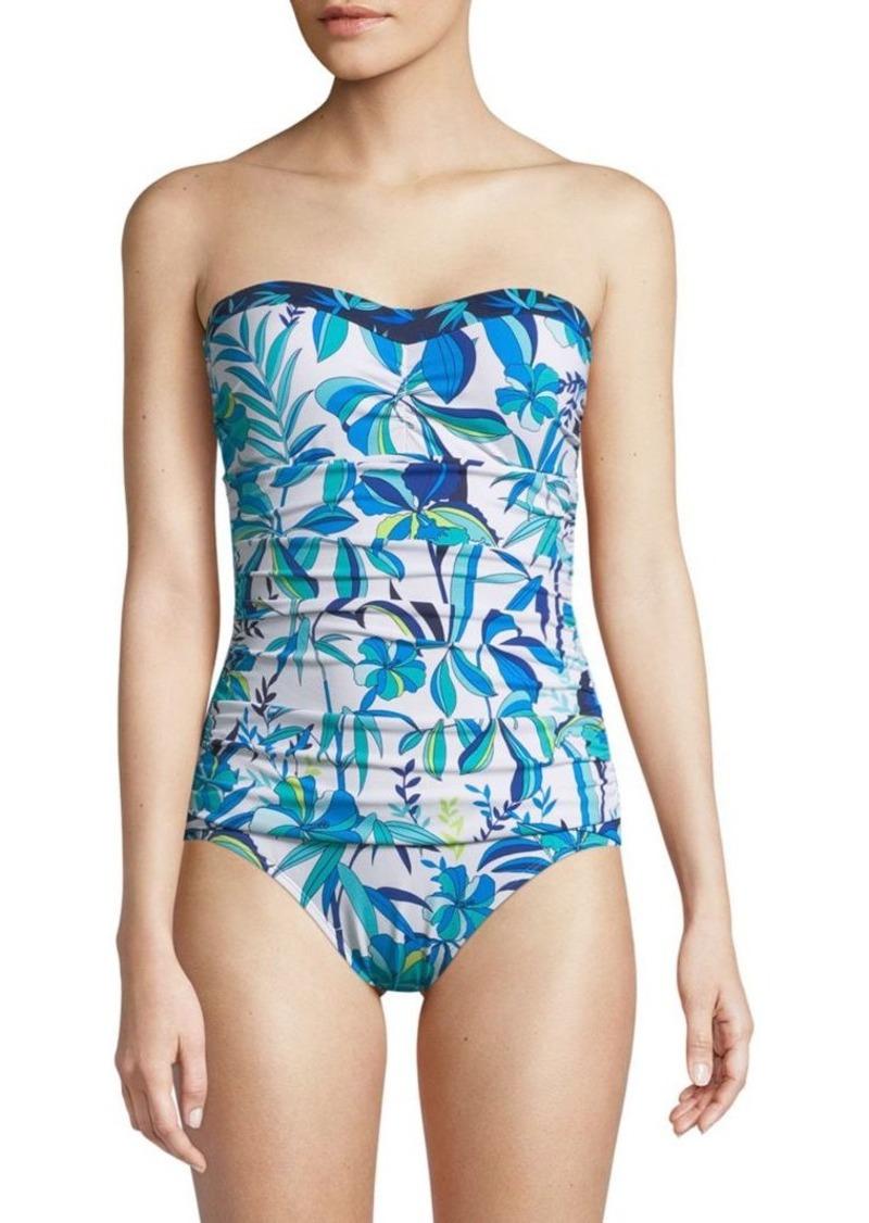 80974e43a77 Tommy Bahama One-Piece Shirred Bandeau Swimsuit | Swimwear