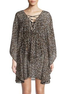 Tommy Bahama Open Back Lace-Up Cover-Up Tunic