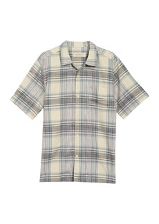 Tommy Bahama Orcona Beach Plaid Regular Fit Short Sleeve Shirt
