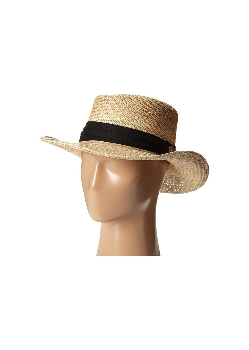 Tommy Bahama Palm Fiber Gambler with 3 Pleat Cotton Band