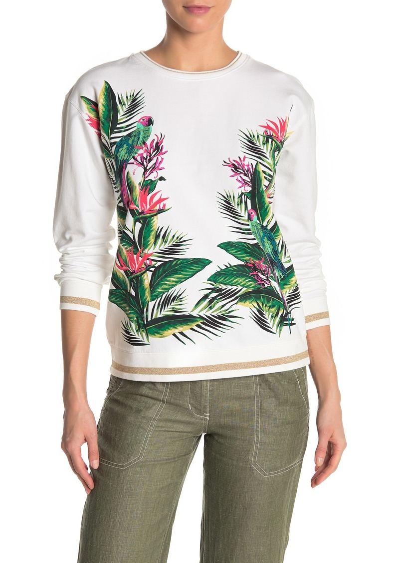 Tommy Bahama Paradiso Parrots Tropical Crew Neck Sweater