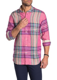 Tommy Bahama Pecona Plaid Linen Long Sleeve Shirt