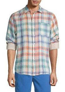 Tommy Bahama Plaid Linen Button-Down Shirt