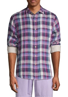 Tommy Bahama Plaid Linen Button-Down Shirt