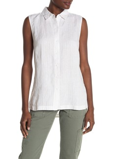 Tommy Bahama Porte Fino Sleeveless Linen Blend Stripe Blouse
