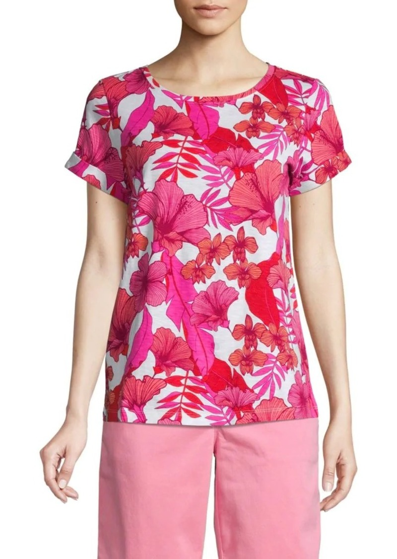 Tommy Bahama Printed Cotton Blend Tee