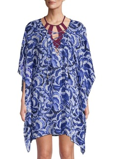 Tommy Bahama Printed Lace-Up Tunic