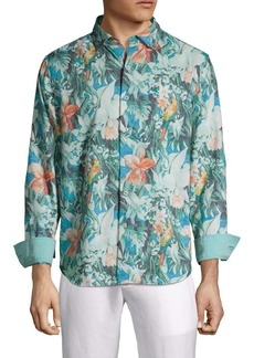 Tommy Bahama Printed Linen Blend Button-Down Shirt
