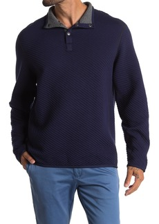 Tommy Bahama Quilt To Last Snap Mock Neck Quilted Fleece Pullover