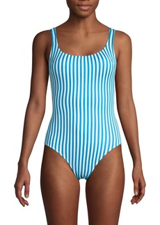 Tommy Bahama Reversible Print 1-Piece Swimsuit