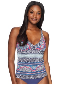 Tommy Bahama Riviera Tile Off the Shoulder V-Neck Tankini