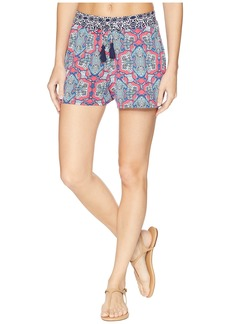 Tommy Bahama Riviera Tile Pullon Shorts Cover-Up