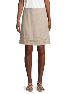 Tommy Bahama Ruffled Linen Skirt
