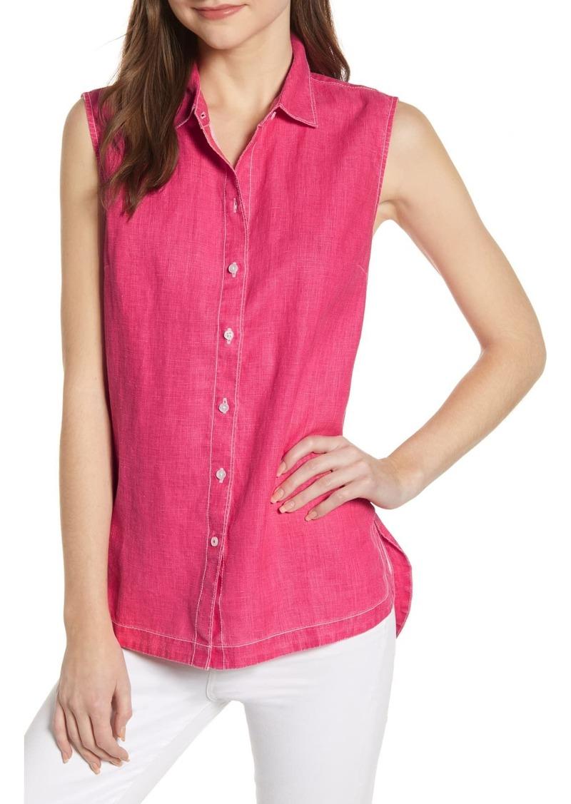 Tommy Bahama Sea Glass Breezer Sleeveless Linen Shirt