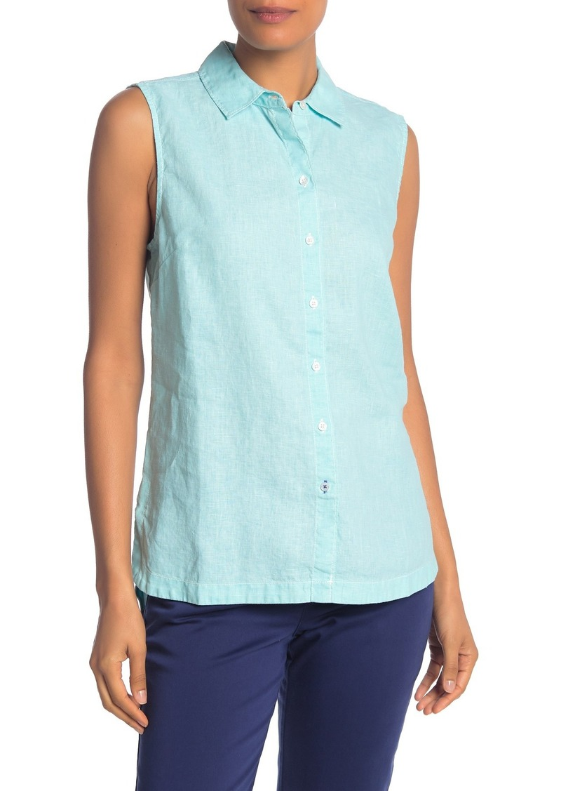Tommy Bahama Sea Glass Breezer Sleeveless Linen Shirt