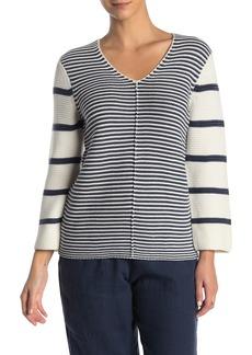 Tommy Bahama Sea Glass Mixed Stripe V-Neck Sweater