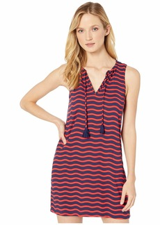 Tommy Bahama Sea Swell Split-Neck Spa Dress Cover-Up