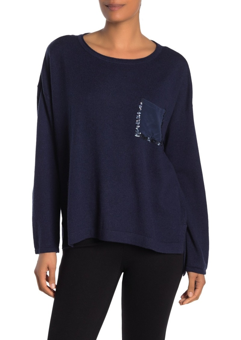 Tommy Bahama Serena Sequin Pocket Sweater