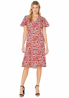 Tommy Bahama Shell We Dance Short Sleeve Midi Dress
