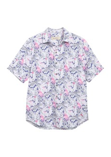 Tommy Bahama Short Sleeve Amiri Fronds Tropical Print Shirt