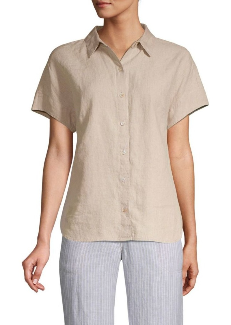 Tommy Bahama Short-Sleeve Linen Button-Down Shirt