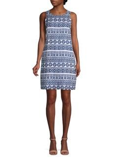 Tommy Bahama Sleeveless Printed Linen Dress