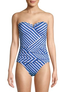 Tommy Bahama Strapless One Piece Swimsuit