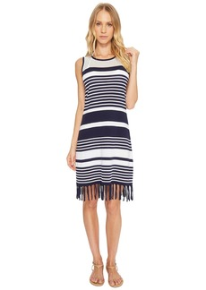 Tommy Bahama Stripe Fringe Sweater Dress Cover-Up
