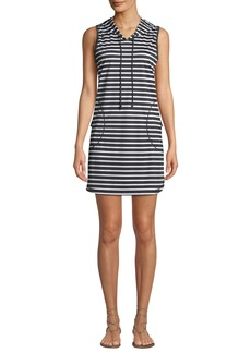 Tommy Bahama Striped Hooded Short Coverup Dress