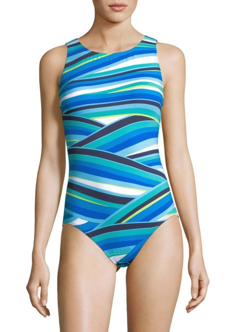 Tommy Bahama Striped One-Piece Swimsuit
