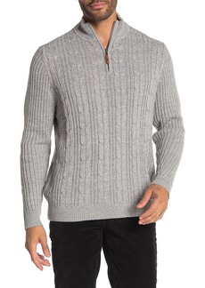Tommy Bahama Tenorio 1/4 Zip Cable Knit Pullover
