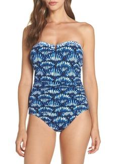 Tommy Bahama Tide Dye Seashells Bandeau One-Piece Swimsuit