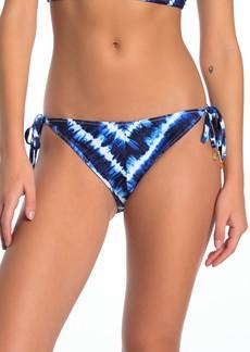 Tommy Bahama Tie Dye Tide Stripe Side Tie Reversible Bikini Bottoms