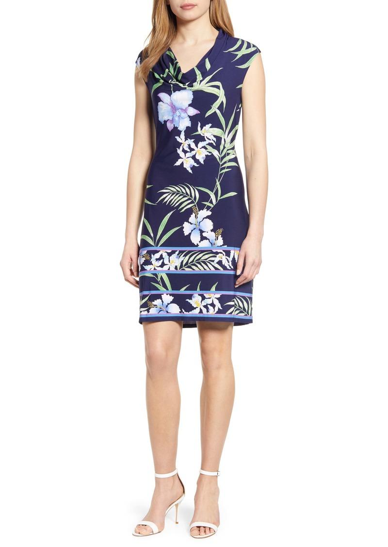 Tommy Bahama Acqua Dei Fiore Floral Print Cowl Neck Dress