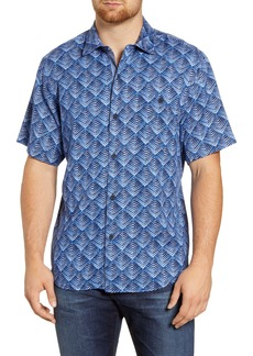 Tommy Bahama Agave Tiles Classic Fit Short Sleeve Silk Button-Up Shirt