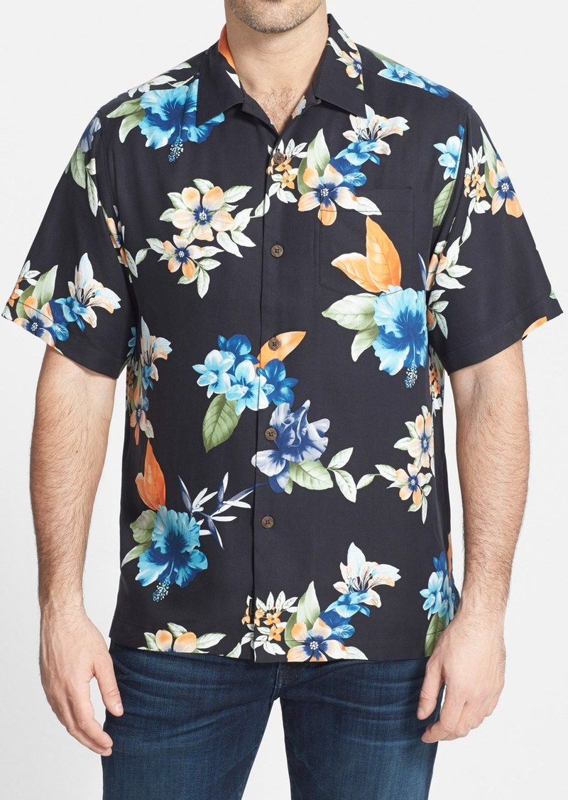 Tommy bahama tommy bahama 39 airbrush tropical 39 original fit for Tommy bahama embroidered silk camp shirt
